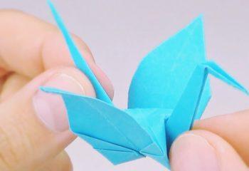 muestra grulla de papel